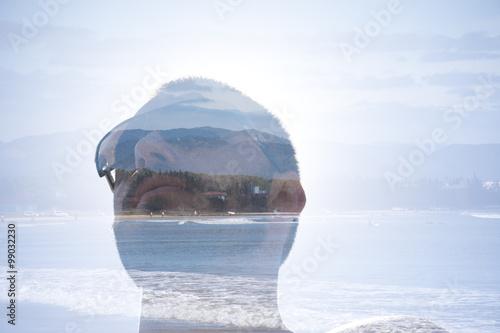 Fotografía  Cabeça de Homem com efeito de exposição