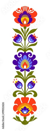 Fototapeta na wymiar Polish folk flowers papercut