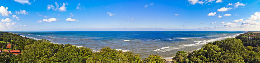 Panorama of the Baltic Sea - Poland
