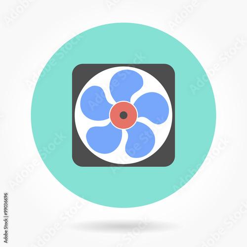 Fotografija  Fan - vector icon.