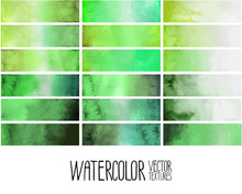 Green Watercolor Gradient Rect...