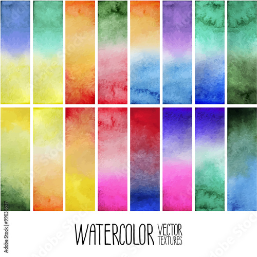 Photo  Watercolor gradient rectangles
