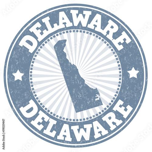 Fotografija  Delaware grunge stamp