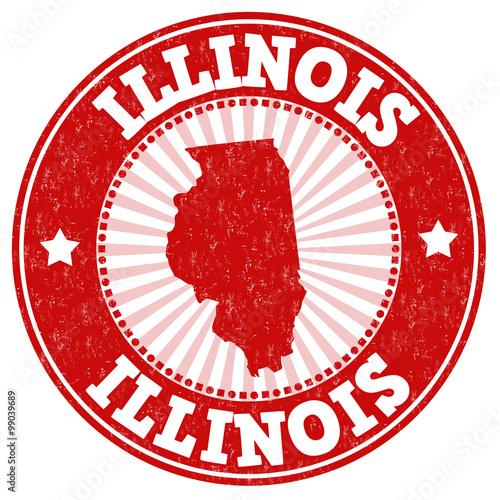 Illinois grunge stamp Tableau sur Toile