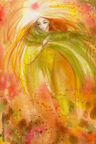 streszczenie-akwarela-ilustracja-przedstawiajaca-portret-kobiety-jesieni