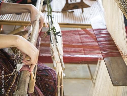 Fotografie, Obraz  Weaving silk 1