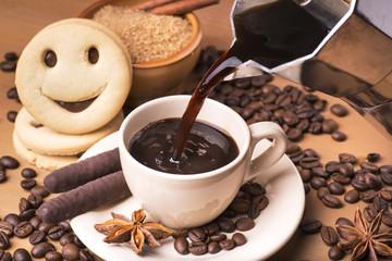Fototapeta Kawa caffè del mattino