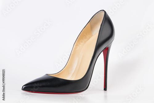 Stampa su Tela Black, elegant evening high heels red bottom
