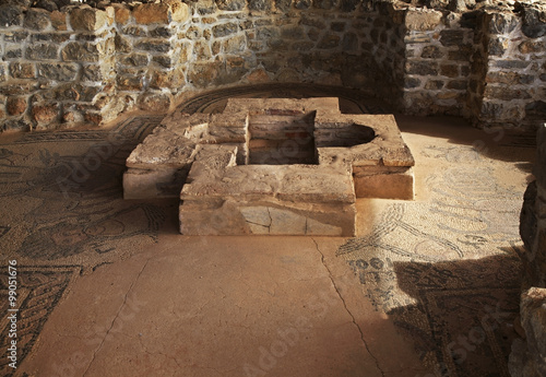 Foto op Aluminium Rudnes Early Christian Basilica in Ohrid. Macedonia