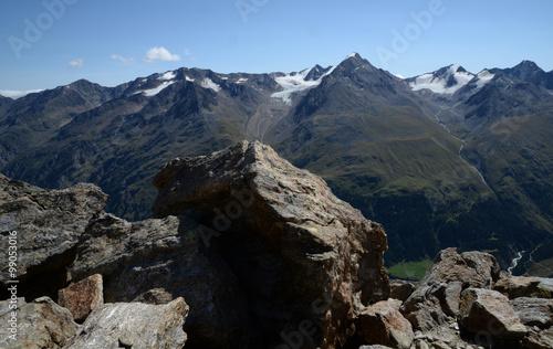 Foto auf Gartenposter Gebirge Auf dem Wilden Mannle, Ötztaler Alpen