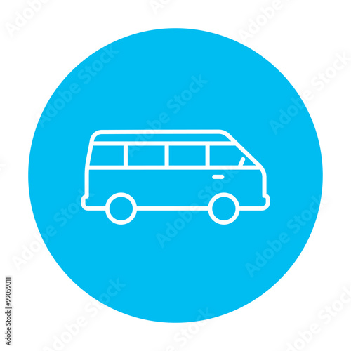Fotografie, Obraz  Minibus line icon.
