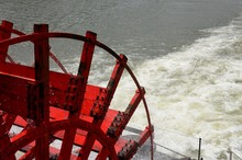 Riverboat, Paddle Boat Wheel On River Cruise Down The Tennessee River