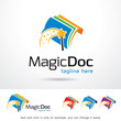 Magic Document Logo Template Design Vector