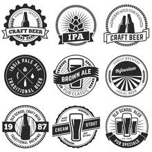 Set Of Vintage Craft Beer Labe...