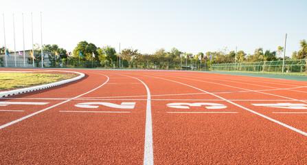 Fototapeta Running track