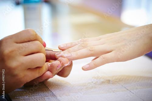 Staande foto Manicure Nail salon