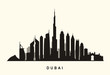 Dubai skyline silhouette