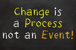 Change is a Process not an Event