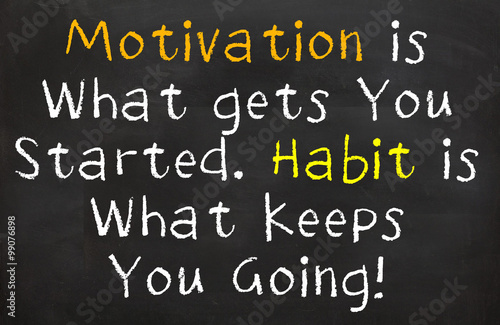 Stampa su Tela  Motivation and Habits