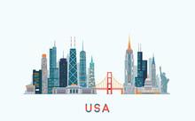 USA Skyline. Vector Illustration