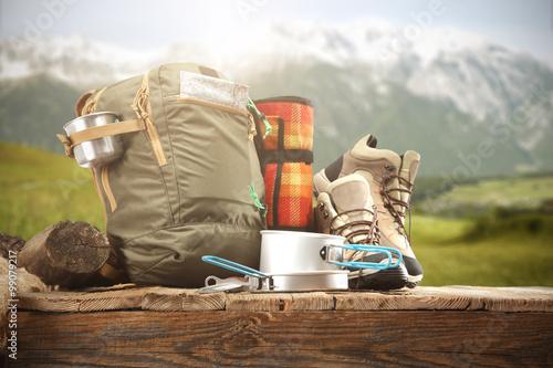 Papiers peints Camping shoes