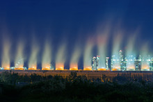 Steaming Cooling Tower Of Oil ...