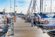 Leinwandbild Motiv Yachten Boote Segelboote im Hafen