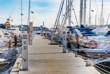 Yachten Boote Segelboote Im Hafen