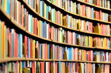 Round Bookshelf In Public Libr...