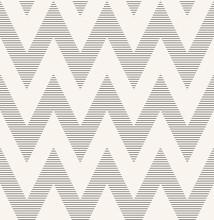 Striped Monochrome Chevron Pat...