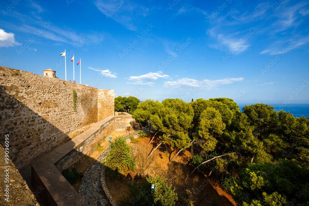 Fortification  of  Castillo de Gibralfaro  in Malaga, Spain