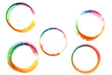 Set Of Watercolor Rings Like R...