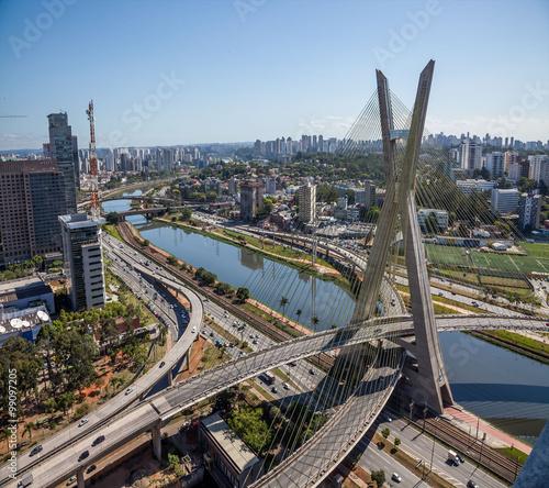 Poster Bridges Ponte da Estaiada, em São Paulo