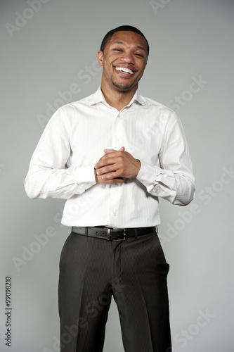 Fotografie, Obraz  Attractive Happy Professional Young Black Male
