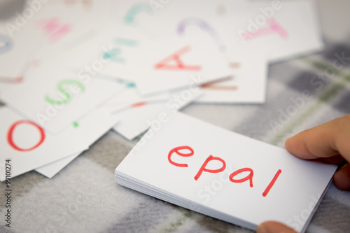 Fotografía  Malay; Learning the New Word with the Alphabet Cards; Writing AP