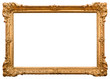 canvas print picture - Gold picture frame. Isolated on white background