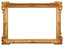 Gold Picture Frame. Isolated O...