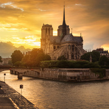 Sunset At Notredam France