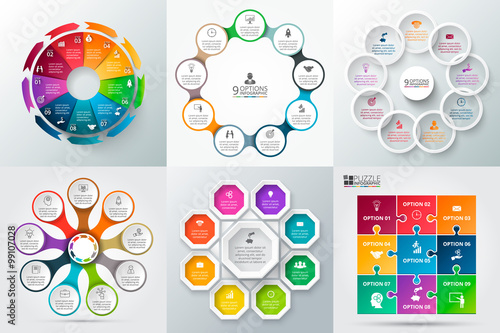 Poster  Vector circle element for infographic.