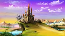 Landscape With A Magic Castle.