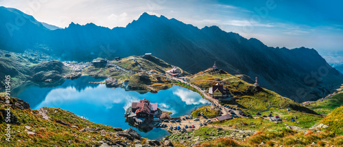 Photo sur Aluminium Reflexion Transfagarasan Balea lake - Balea Lake, is a glacier lake situated at 2,034 m of altitude in the Făgăraș Mountains, in central Romania, in Cârțișoara, Sibiu County - 14 frame