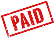 Grunge Stamp Red Paid
