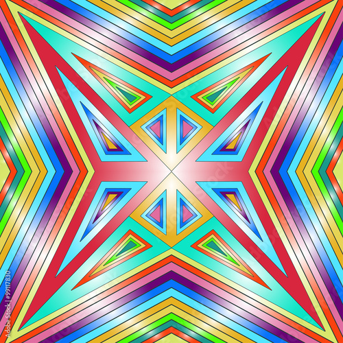 Photo Stands Psychedelic Seamless colorful geometric texture