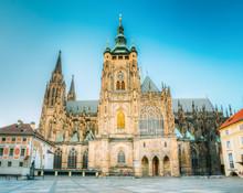 Famous Landmark St. Vitus Cathedral Prague, Czech Republic.