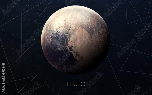 Pluto - High resolution images presents planets of the solar system фототапет