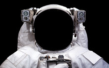 Astronaut In Outer Space. Spac...