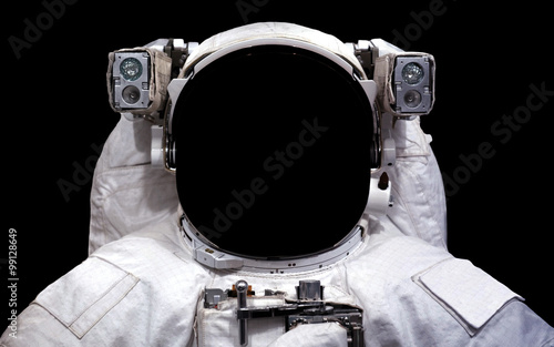 Montage in der Fensternische Nasa Astronaut in outer space. Spacewalk. Elements of this image furnished by NASA