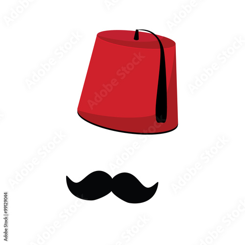 Fotomural  Turkish hat and mustache
