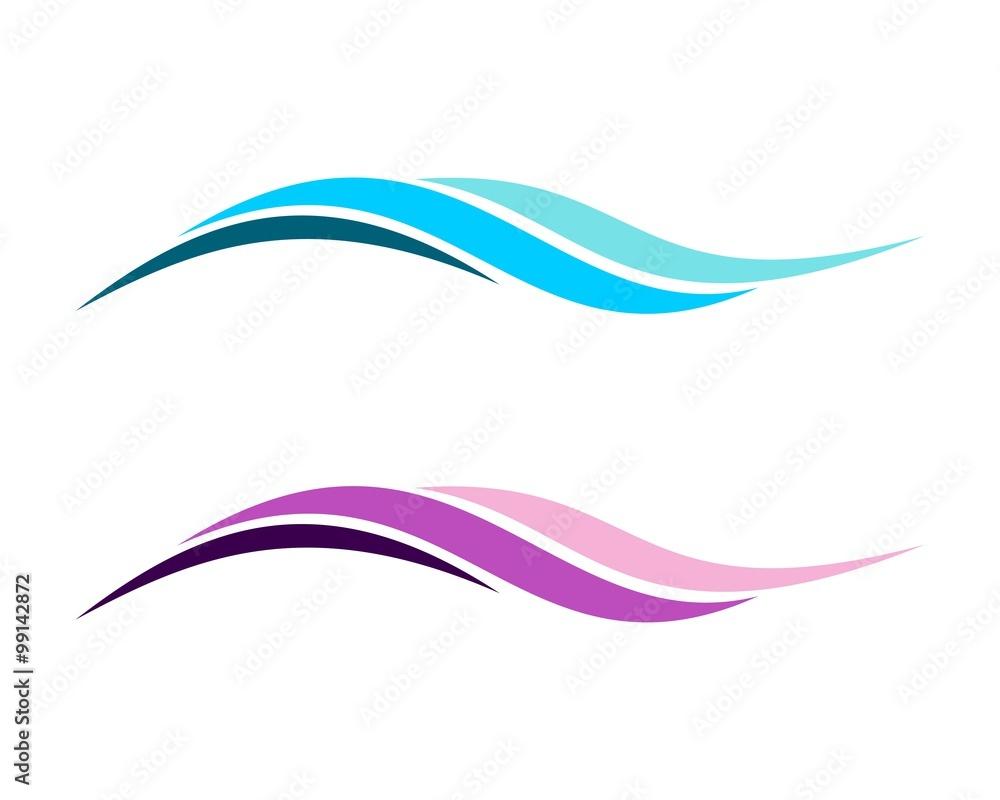 Fototapeta Colorful Abstract Wave Logo