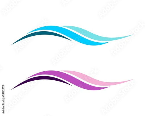 Obraz Colorful Abstract Wave Logo - fototapety do salonu